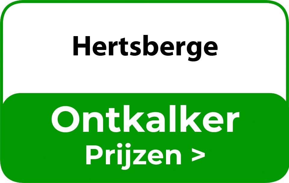 Ontkalker in de buurt van Hertsberge