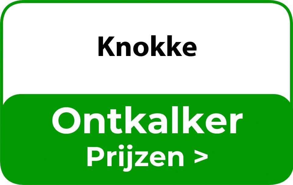 Ontkalker in de buurt van Knokke