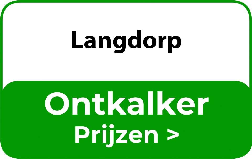 Ontkalker in de buurt van Langdorp