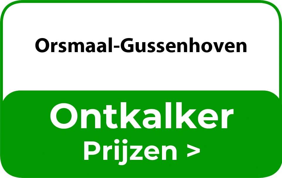 Ontkalker in de buurt van Orsmaal-Gussenhoven