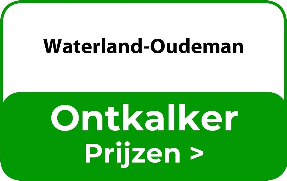 Ontkalker in de buurt van Waterland-Oudeman