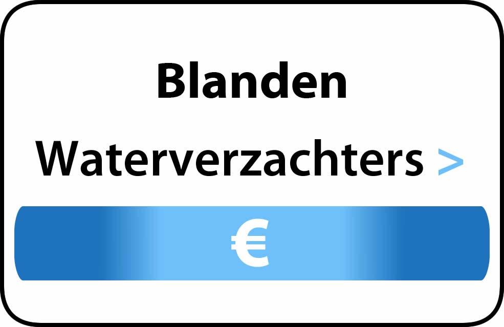 Waterverzachter in de buurt van Blanden