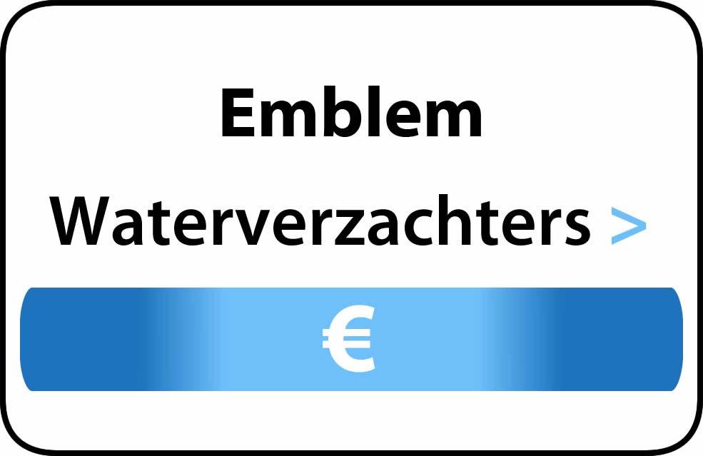 Waterverzachter in de buurt van Emblem