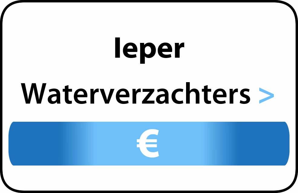 Waterverzachter in de buurt van Ieper
