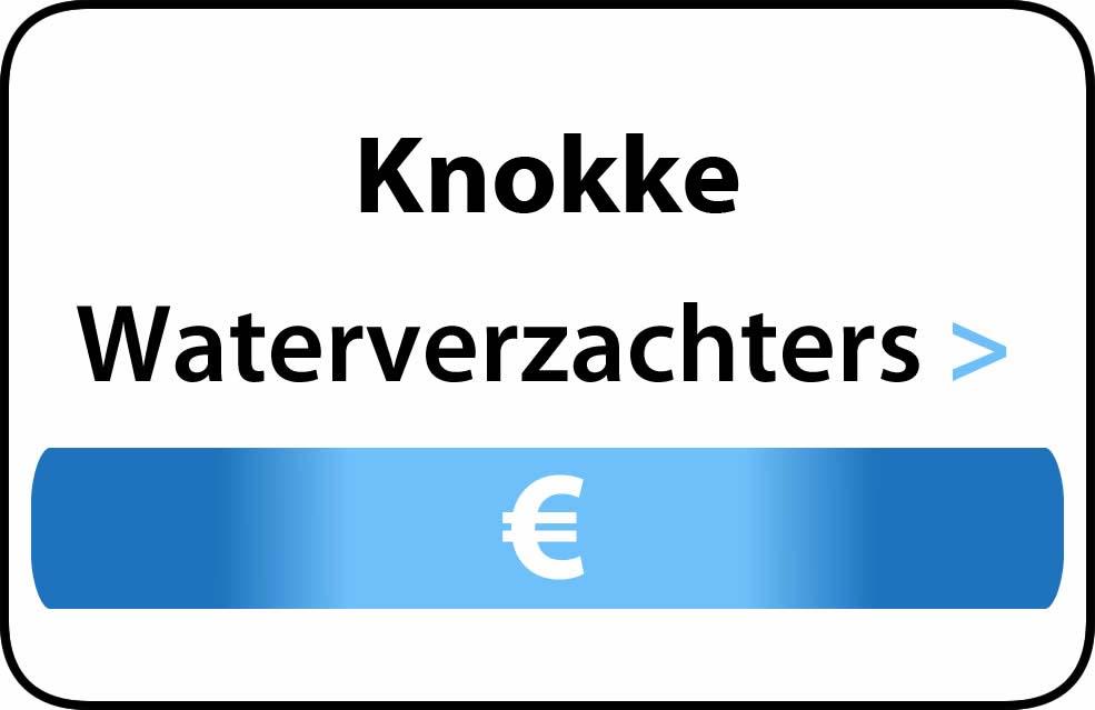 Waterverzachter in de buurt van Knokke
