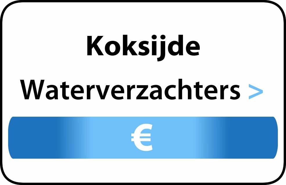 Waterverzachter in de buurt van Koksijde