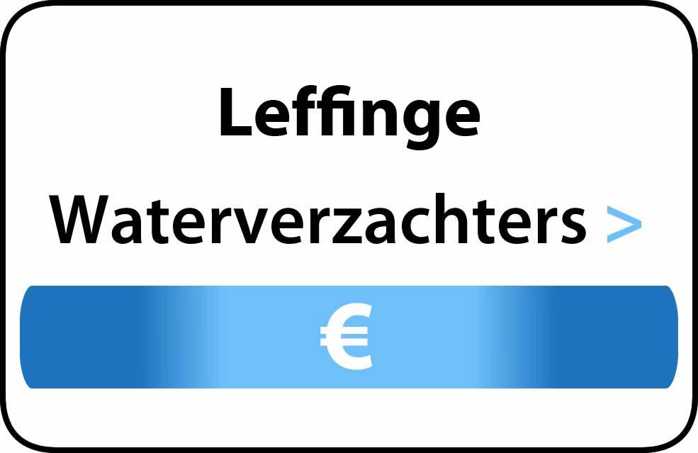 Waterverzachter in de buurt van Leffinge