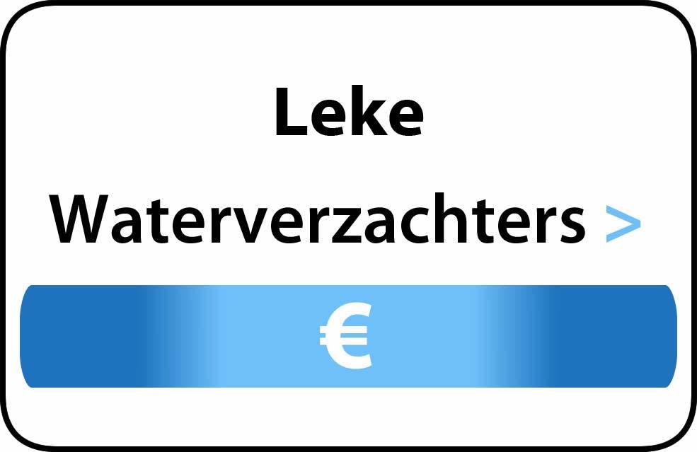 Waterverzachter in de buurt van Leke