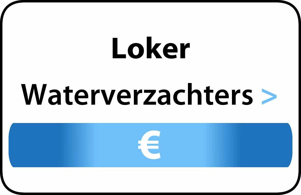 Waterverzachter in de buurt van Loker