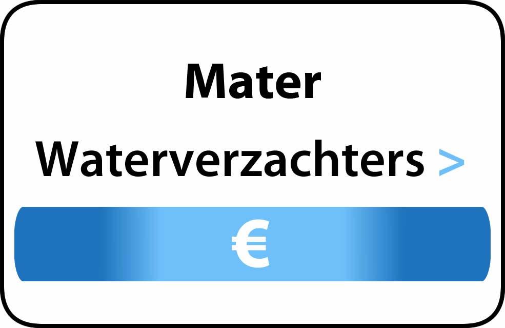 Waterverzachter in de buurt van Mater
