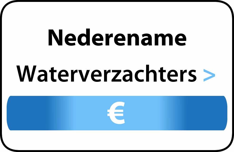 Waterverzachter in de buurt van Nederename
