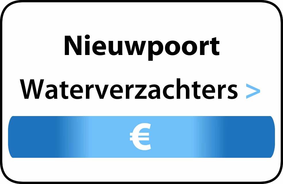 Waterverzachter in de buurt van Nieuwpoort