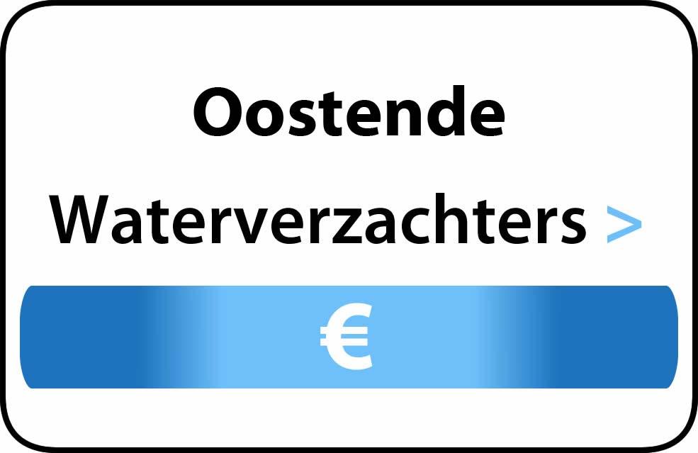 Waterverzachter in de buurt van Oostende