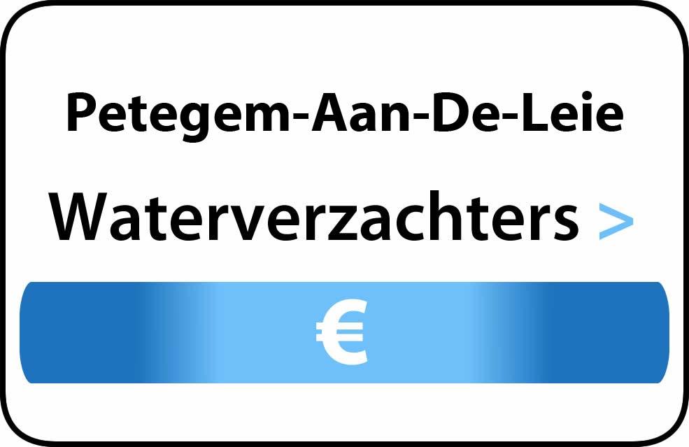 Waterverzachter in de buurt van Petegem-Aan-De-Leie