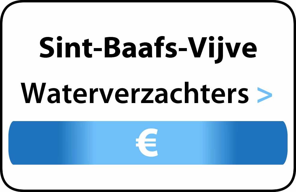 Waterverzachter in de buurt van Sint-Baafs-Vijve