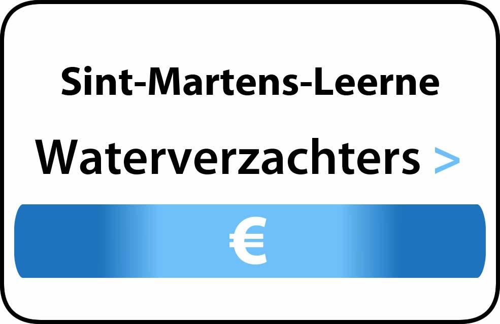 Waterverzachter in de buurt van Sint-Martens-Leerne