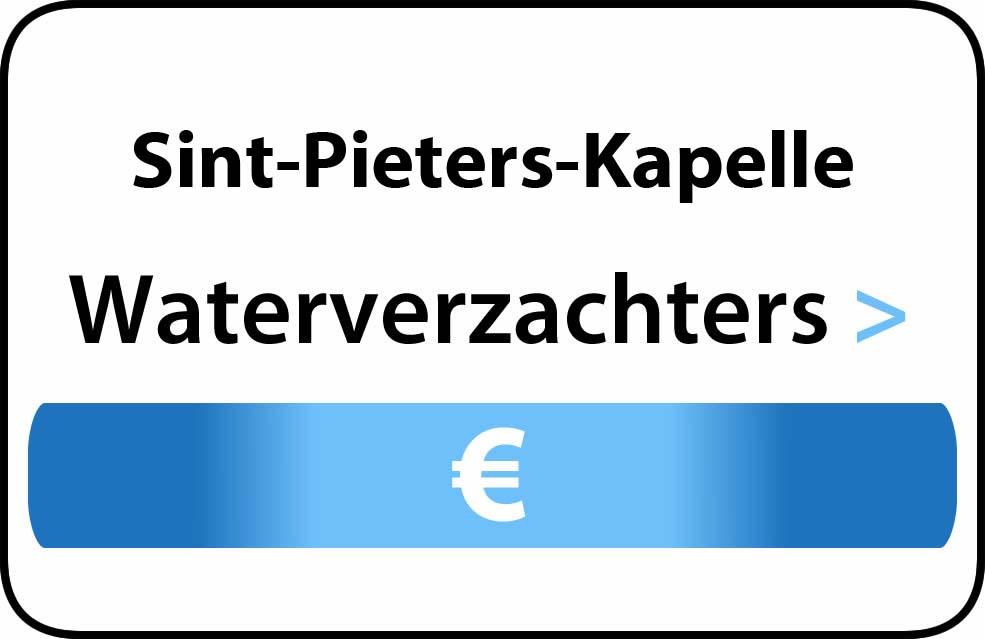 Waterverzachter in de buurt van Sint-Pieters-Kapelle