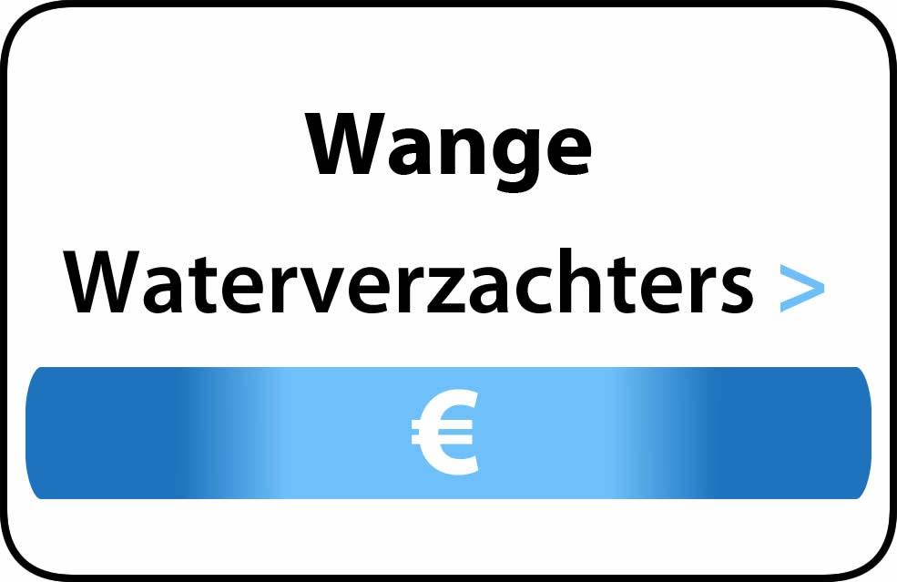 Waterverzachter in de buurt van Wange