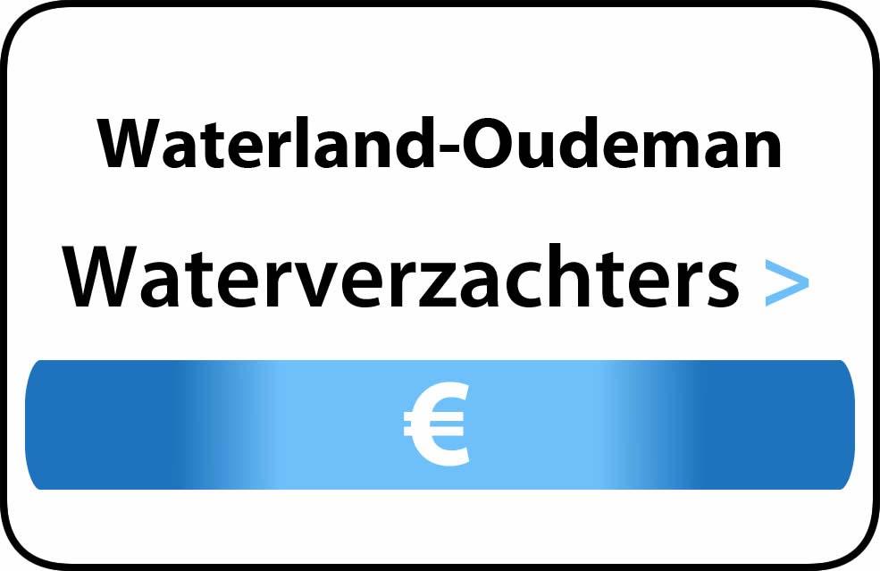 Waterverzachter in de buurt van Waterland-Oudeman