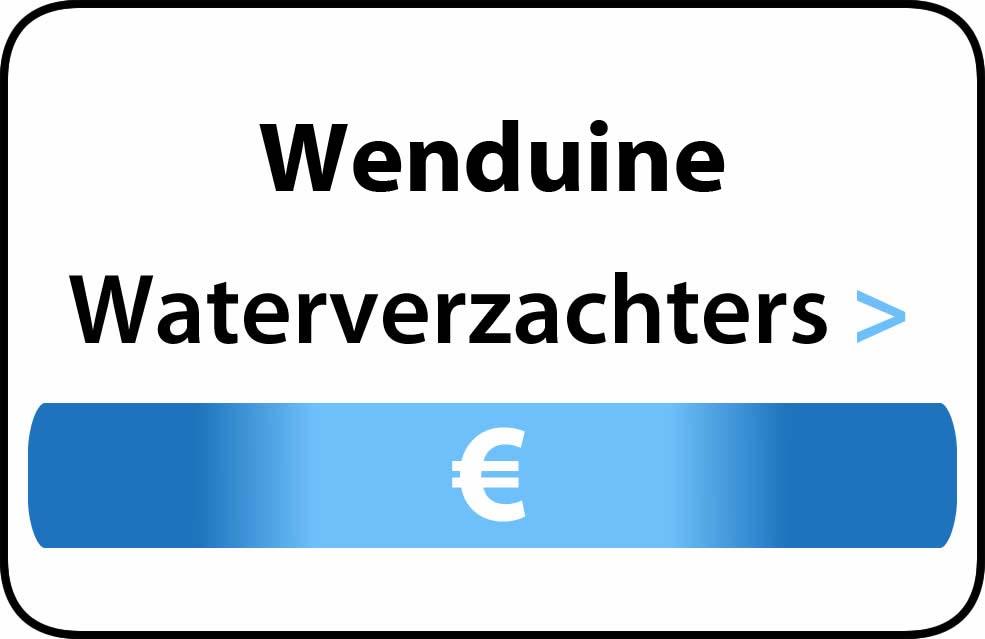 Waterverzachter in de buurt van Wenduine