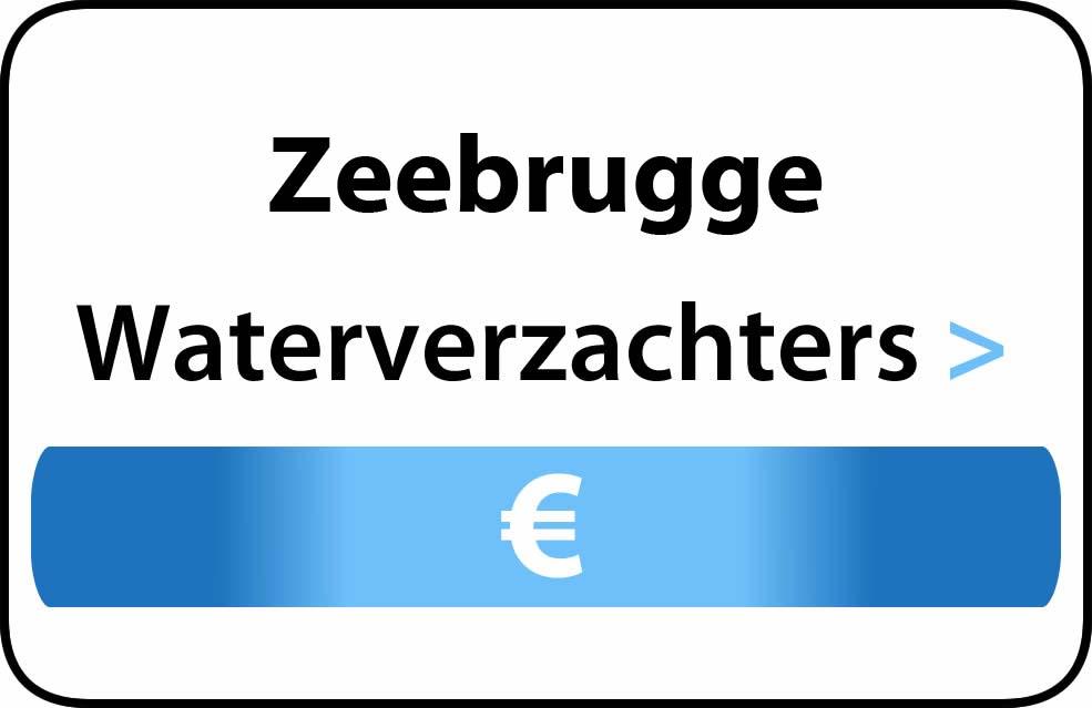 Waterverzachter in de buurt van Zeebrugge